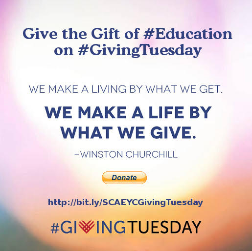 SCAEYC #GivingTuesday